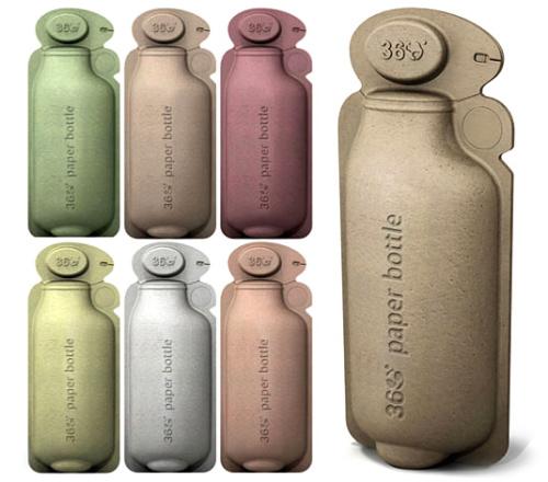 360 bottle. Botella de papel