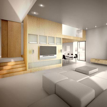 Casa rural de madera de bajo consumo - Interior casas de madera ...
