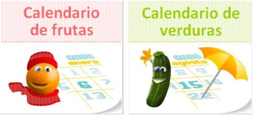 calendario de frutas y verdura de temporada