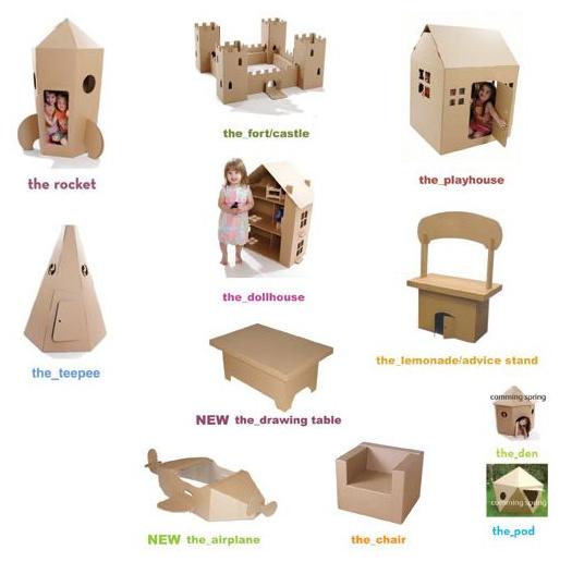 Muebles de cartón reciclado y reciclable Cardboardesign