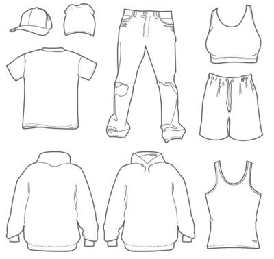 vestuario sencillo