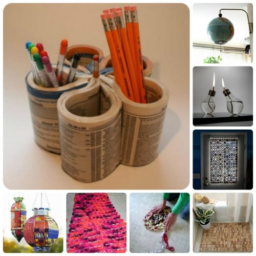 12 1 ideas para reciclar reutilizar y decorar en las for Cosas recicladas para decorar tu cuarto