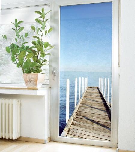 Murales para evadirnos dentro de casa el blog alternativo - Papel adhesivo para puertas ...