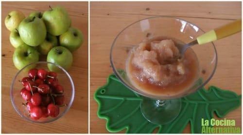 Sorbete express de cereza y manzana el blog alternativo - Sorbete de manzana verde ...