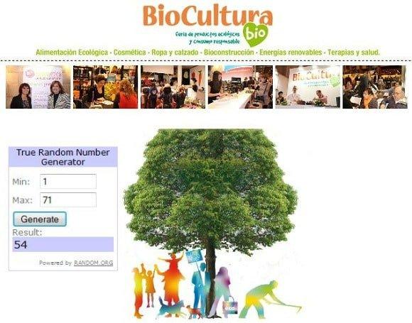 Ganadores Biocultura Valencia 2013 sorteo entradas
