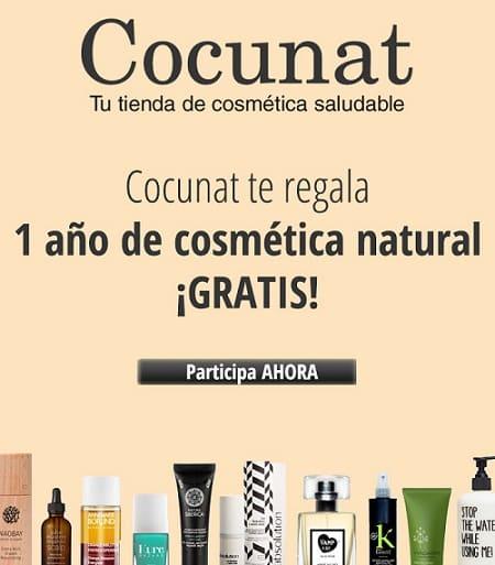 Gana un año de cosmética natural gratis con Cocunat