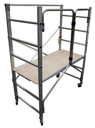 Seguridad en los trabajos de bricolaje con andamios y - Escalera andamio aluminio ...